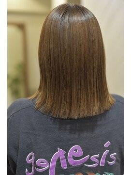 ハイライト、白髪染めの履歴があっても、、、髪質改善縮毛矯正を ...