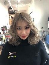 アイボリーヘアワークスアンドエステティック(Ivory Hair works Esthetic)☆ミルクティーベージュ☆シースルーバング