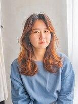 カイコヘアーアンドアートスタジオ(kaiko hair&art studio)Orange medium