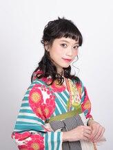 アース 水沢店(HAIR&MAKE EARTH)☆着物ヘア☆フェアリーハーフアップ