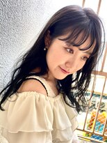 イソラブル(ISOLA-blu)【お洒落な暗髪】シースルーバング×ブルーブラック