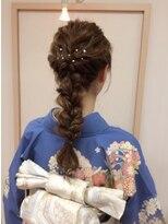 アドゥーヘアー(A do hair)編みおろしアレンジ