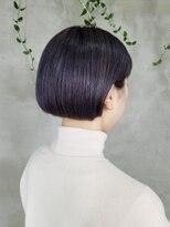 テトヘアー(teto hair)紫 ボブ ミニボブ ラベンダー ワンレン 簡単スタイリング