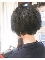 【Marlお客様スタイル】黒髪ナチュラルショートボブ