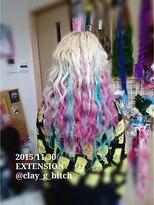 仙台エクステ 他店様で編んだエクステに追加で編み込み 派手髪