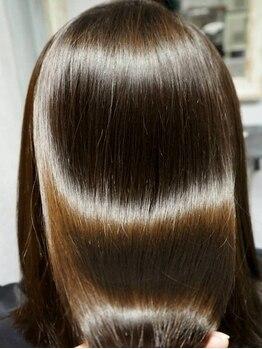 ゴエン(goen)の写真/【ダメージを最深部から補修する髪質改善サロン!!】今までの縮毛矯正イメージを覆す、柔らかな質感に…♪