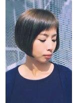 ティースタイル(hair salon t-style)カーキアッシュショートボブ