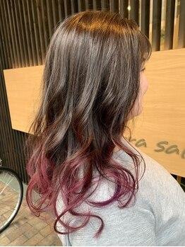 カーラ サロン(Carra Salon)の写真/【JR尼崎駅5分】仕上がりの色持ちまで考えたダメージレスなこだわりの薬剤で、発色を生かす艶感まで再現☆
