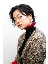 マウロア(MAULOA)【MAULOA】ニュアンスパーマ 大人ショート 黒髪