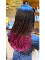 ジェイポイント ヘア クリニカ(J:POINT Hair CLINICA)ディープパープル×ピンクカラー