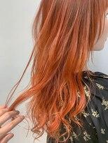 テトヘアー(teto hair)オレンジベージュ、グラデーションカラー、オレンジカラー