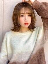 アグ ヘアー ワン 梅坪店(Agu hair one)《Agu hair》シースルーバング色っぽ外ハネミディ