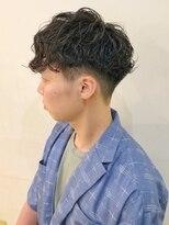 キアラ(Kchiara)松田翔太さん風パーマスタイル-刈り上げ-マッシュ