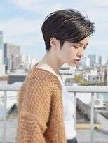 ナツヤ(NATSUYA)黒髪ワンレンショート