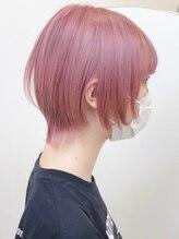 ジェムヘアスタジオ 湘南平塚南口店(Gem Hair Studio)Gem Hair Studio 姉崎 外はねショート/ペールピンクカラー