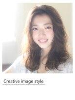 【Creative image styel】かきあげバングのヘルシーセミロング