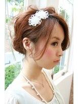 マイア 横浜駅店(hair saloon maia)結婚式・セットアップ 大人可愛いルーズアレンジ♪