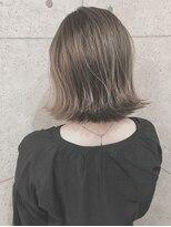 アールプラスヘアサロン(ar+ hair salon)きりっぱタイトボブ×シナモンベージュハイライト