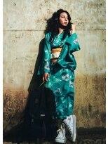 オゥルージュミュゼ(Aurouge)【aurougemusee今関茉莉】着こなしstreet浴衣Style