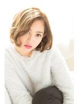 エリア(area)【area本店 西大島】ベージュカラー センターパート 大人ボブ☆