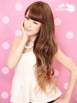 エクステ市場 渋谷本店 カラーランドワイドバング+ミルクティーグラデーションカラーで愛されヘア♪