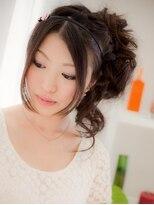 *+COVER HAIR+*…【ヘアセット】3段編み込みのSweetアップa