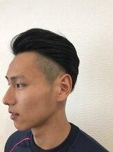 オハナ(Ohana hair&spa)オールバック風2ブロック