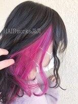 インナーカラー ピンクパープル