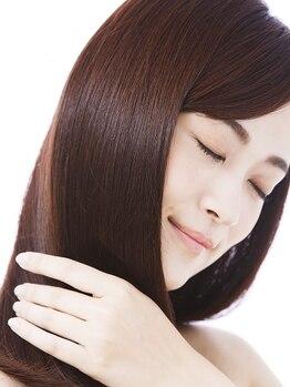 サイヘアーガーデン(SAI hair garden)の写真/【名駅1番出口3分】髪質に合わせたオリジナル調合で髪質改善☆極上のツヤ髪を体験!今までにない髪質が叶う