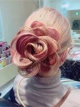 ヘアーサロン ジュエル(Hair Salon JEWEL)お花アップ