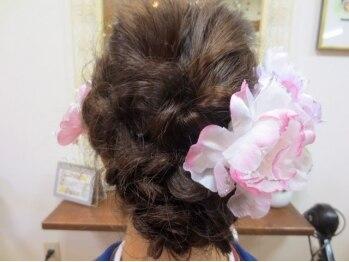ヘアーフィールド(Hair Field)の写真/あなたの大切な1日をどの角度から見てもずーっと可愛く演出☆結婚式や季節のイベントなどにオススメ♪
