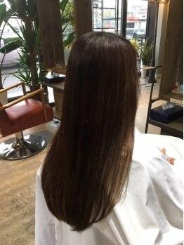 ルーア カインドサロン(Ruua kind salon)の写真/【質感をコントロールするtreatment】傷んだ髪をしっかり補修!!思わず触れたくなるツヤ髪に♪