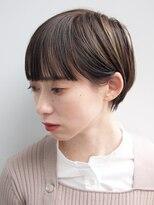 バコ(Baco.)ぱっつんバングのショートボブ【Baco.】