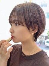 オブヘアージユウガオカ(Of HAIR Jiyugaoka)【黒髪でも大人かわいい】シースルーバング×マッシュショート