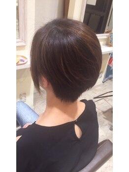 """ヘアメイクソエル(hair make Soel)の写真/≪高い技術×抜群のセンス≫""""Soel""""Stylistがご提案◆創り込み過ぎないラフなショートStyle"""