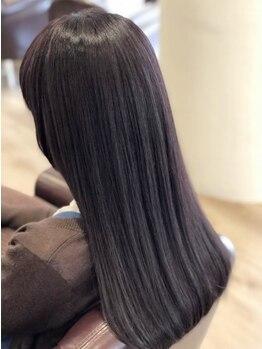 シエル 岡山店(CIEL)の写真/【憧れの美髪が叶う!】ダメージレスなサラツヤストレートに♪ナチュラルな仕上がりもプチプラで実現☆