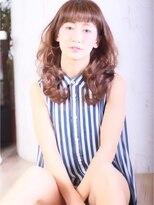 ルーシー(LUCY)3Dカラー × Glamorous curls オン眉