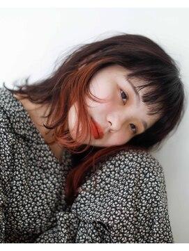 ニコヘアー(niko hair)秋色インナーカラー▼LINEID@vey3047y