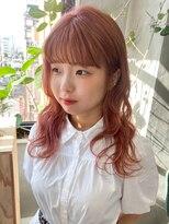 テトヘアー(teto hair)ピンクカラー ピンクベージュ フェミニン 暖色系カラー