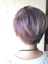 ギミック ヘア ファクトリー(gimmick hair factory)☆ブリーチを使用した☆ハイトーンアシンメトリーショートstyle