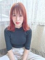アリス ヘア デザイン(Alice Hair Design)Alice☆うざバング×トワイライトオレンジ