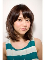 ジョエミバイアンアミ(joemi by Un ami)【joemi】カットだけでOK☆軽さ増すミディアムレイヤー(大島)