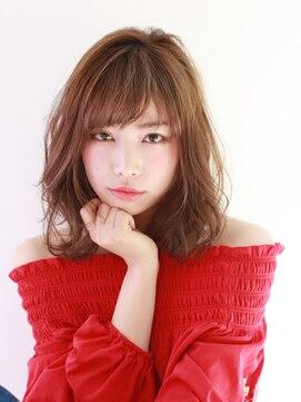 ブラン(Blanc)☆忙しい女性オススメ☆外国人カラー×ミディアムヘア