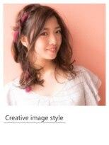 ヴェローグ シェ ブー(belog chez vous hair luxe)【Creative image styel】リボン編み込みアレンジ