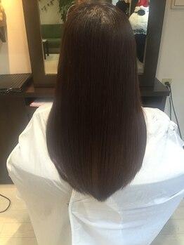 ティーズ ヘアー(T's HAIR)の写真/毛髪回復力140%!TOKIOトリートメント取扱い☆芯からしなやかで艶やかな神へ導きます。