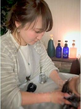 ハローズ(HELLOWS)の写真/【JR尼崎】厳選したオーガニック薬剤で美髪に導いてくれるメニューが充実♪くつろぎ空間でキレイになれる◇