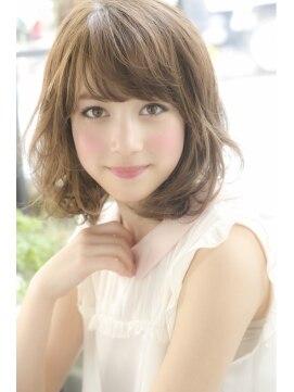 ノラ ヘアーサロン(NORA HAIR SALON)ふんわり可愛いミディアムカール☆
