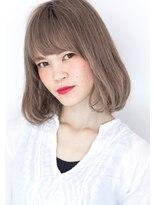 ヘアサロンガリカアオヤマ(hair salon Gallica aoyama)☆ グレージュ & ハイライト ☆ ワンカール ノームコアbob ☆