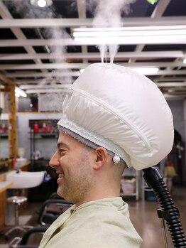 ファクトリーバーバーショップ(FACTORY barber shop)の写真/見た目も驚くバルーンを使用したスチームスパが大人気!男性の気になる育毛促進のメニューも充実◎