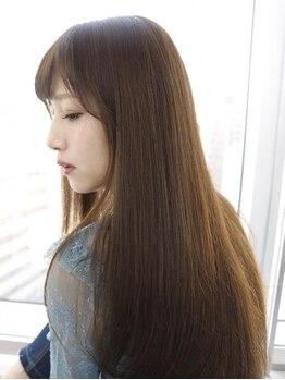 ガレリアエレガンテ 西尾店(GALLARIAElegante)の写真/【西尾市】髪の悩みに応える極上ストレート。あなた史上最高の手触り、つややかな髪に。